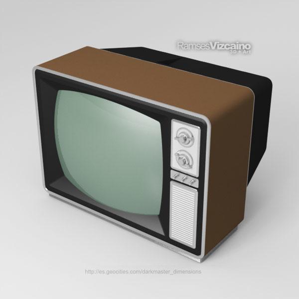 classic television 3d obj