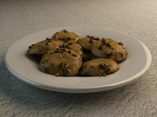 cookies plate scene x
