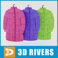 3ds max coat set parka
