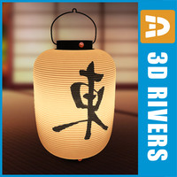 3d model oriental lamp east japanese interiors