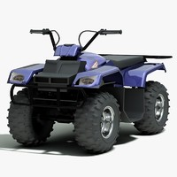 3d yamaha grizzly atv model