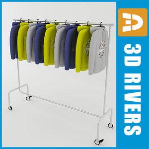 retail clothing rack hoodies 3ds