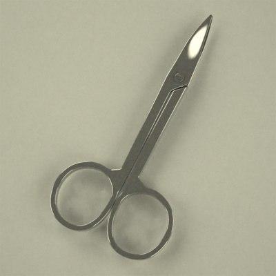 3d manicure man scissors