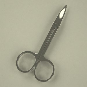 3d manicure man scissors