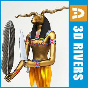 egyptian khnum 3d model