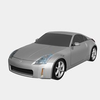 low poly Nissan 350Z