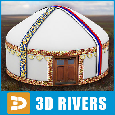 nomad tent home 3d model