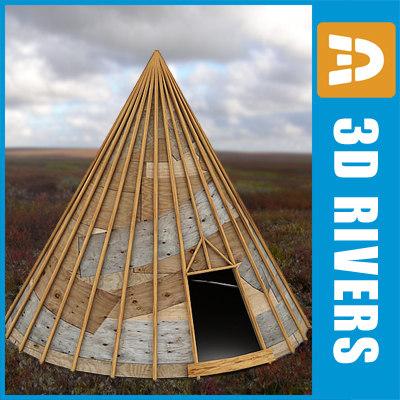 3d model nomad tent home