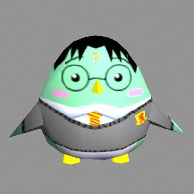 cute penguin 3d 3ds