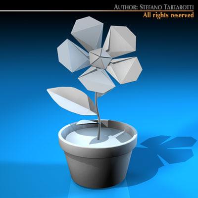 paper flower 3d model
