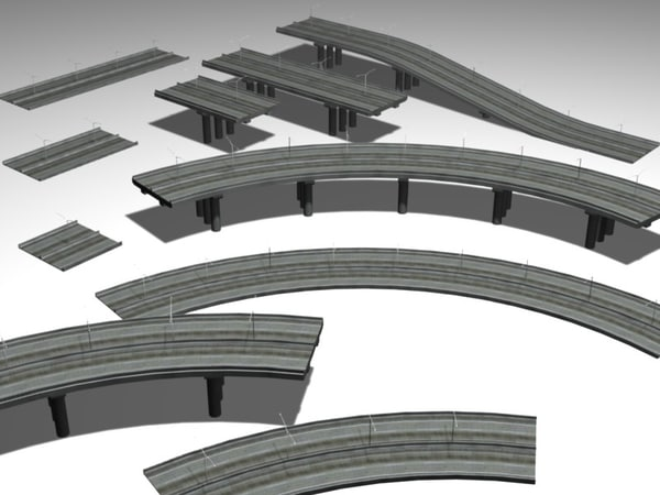 highways elevated 3d model