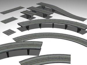 highways elevated 3d model