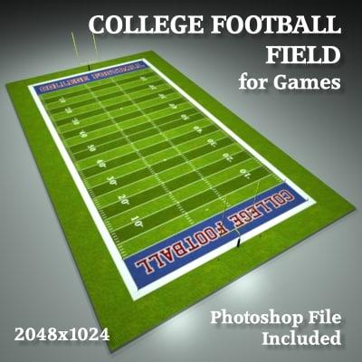 college football field 3d model
