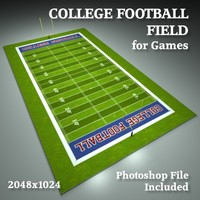 college football field 3d model