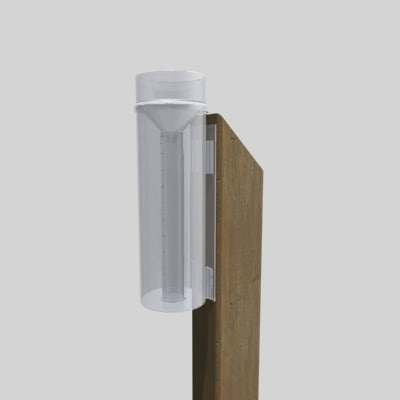 free accumulation rain gauge 3d model