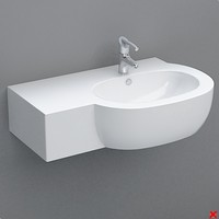 sink basin 3d 3ds