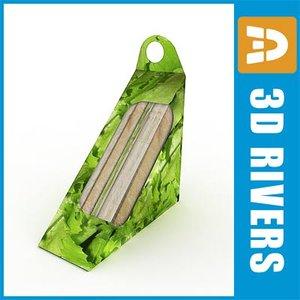 sandwich pack food 3d model