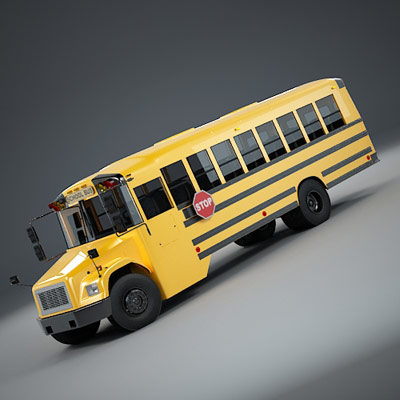 3d model of school bus fs65