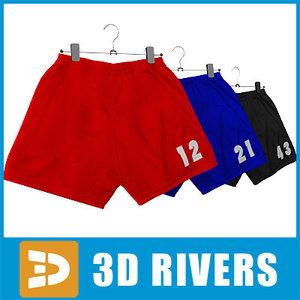 sport shorts set clothes 3d max