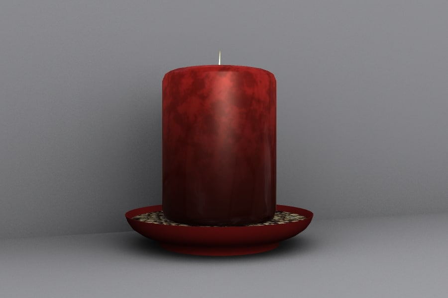 table candle 3d obj