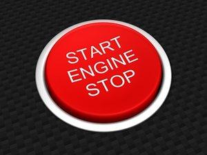 car start stop button 3d model