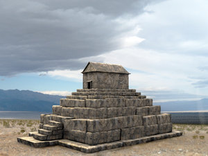 3ds max tomb great pasargadae