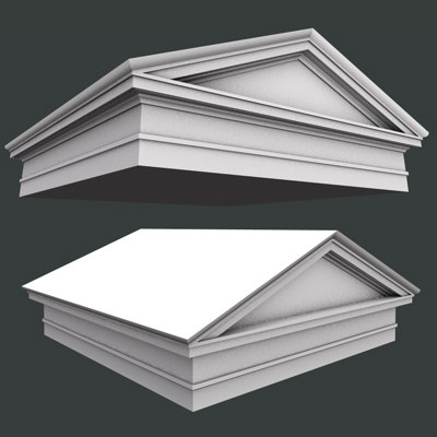 pediment architrave 3d model
