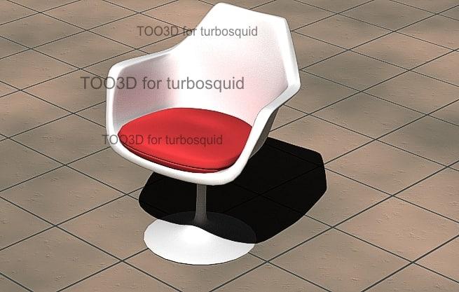 3d model tulip seat