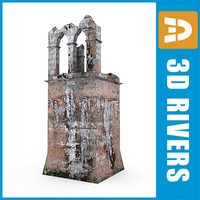 ruined watchtower 3d model