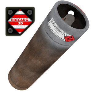 cylinder acetylene flammable 3ds