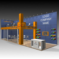 3d fair stand exhibition model