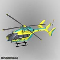 eurocopter ec-145 sos helikoptern 3d model