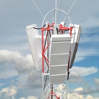 cell phone tower 3d model