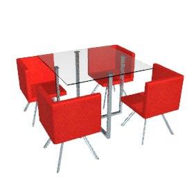3d max table set