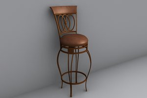 3d lwo bar stool