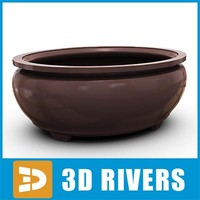 bonsai planter flowerpot 3d 3ds