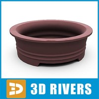 bonsai planter flowerpot 3ds