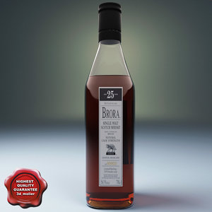 bottle whisky 3d model