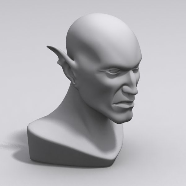 3dsmax elf dark head