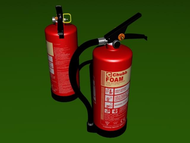 3d model foam spray extinguisher