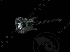 guitar 3d max