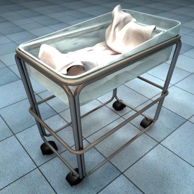 bassinet hospital 3d model