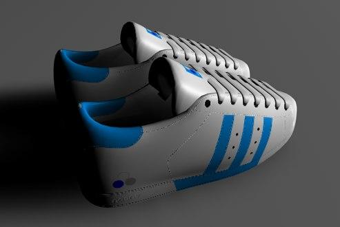zapatillas deportivas superstar 3d model
