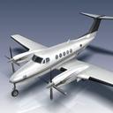 king air b200 aircraft 3d model