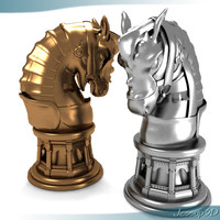 3d model chess piece