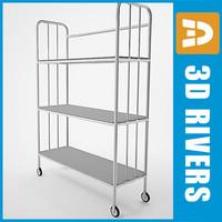 3d linen cart model