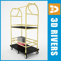 3d luggage cart