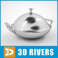 3d dish cover model