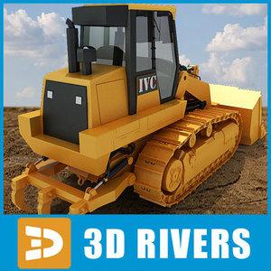 3d model waste handler industrial vehicles
