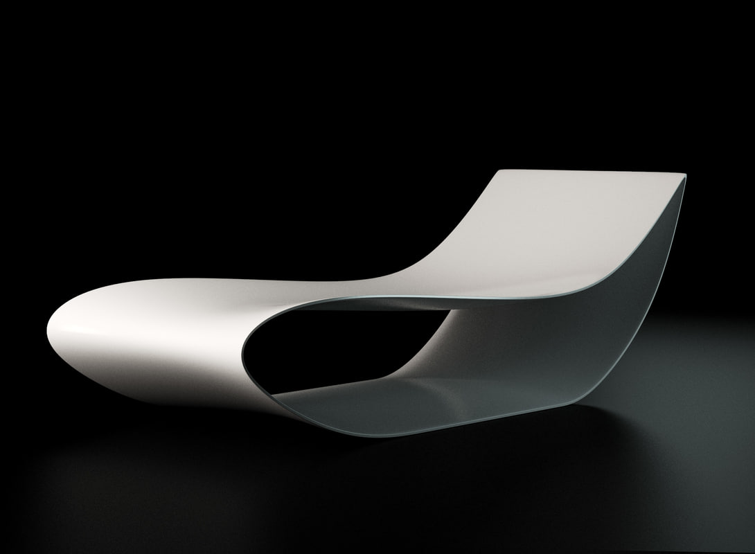 3ds max mdf italia sign lounge chair